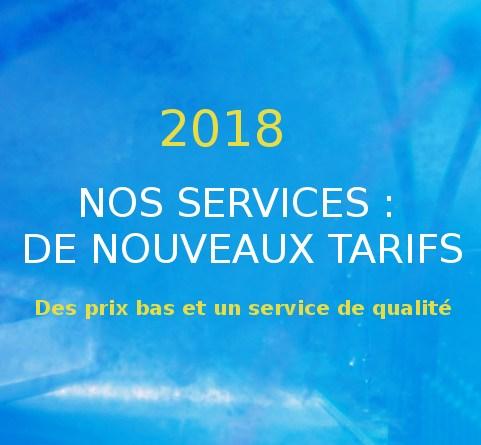 Nouveaux tarifs 2018