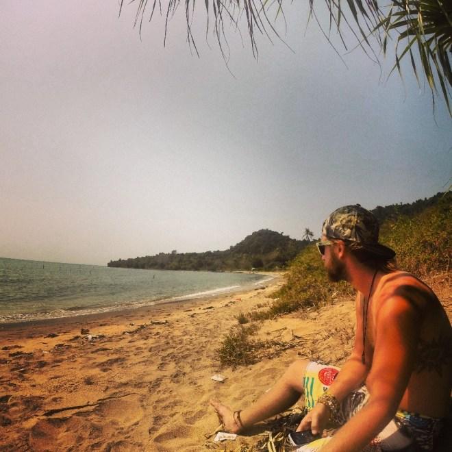 Sitting on Rabbit Island (Koh Tonsai)