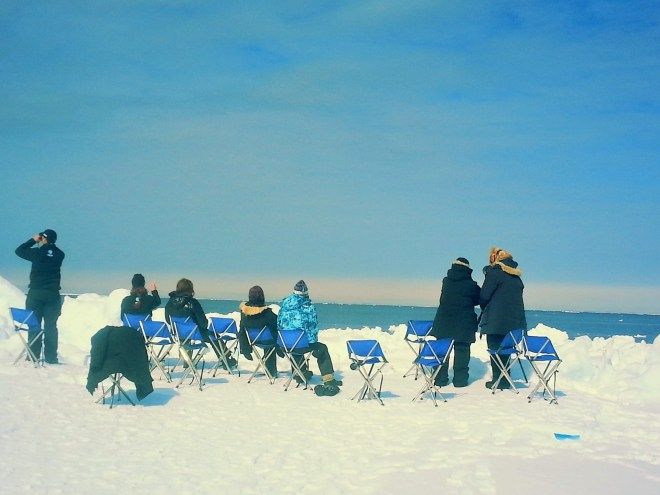 Sitting at the floe edge in anticipation
