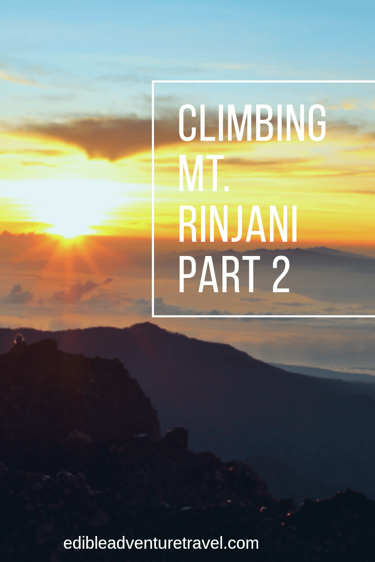 Part 2 of my account of the 3 day trek over Mt. Rinjani, Indonesia