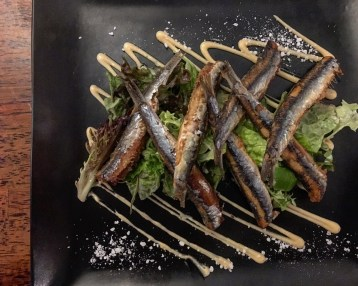 Crispy Anchovies with garlic/truffle aioli