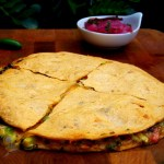 Avocado Black Bean Quesdaillas