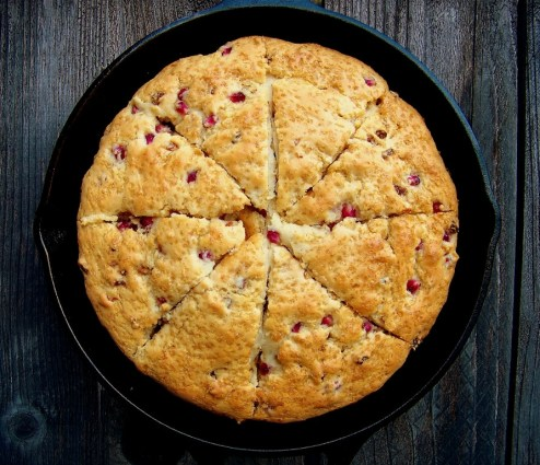 Orange Pomegranate Scones