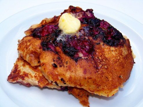 Blackberry Mascarpone Pancakes