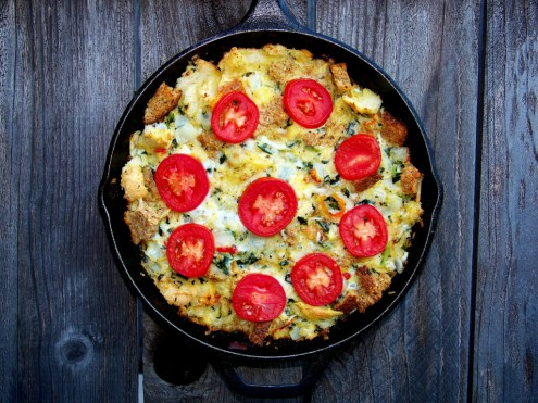 Savory Bread and Cheese Pudding