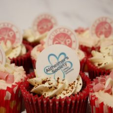 Alzheimer's Society Charity Cupcake Decoration