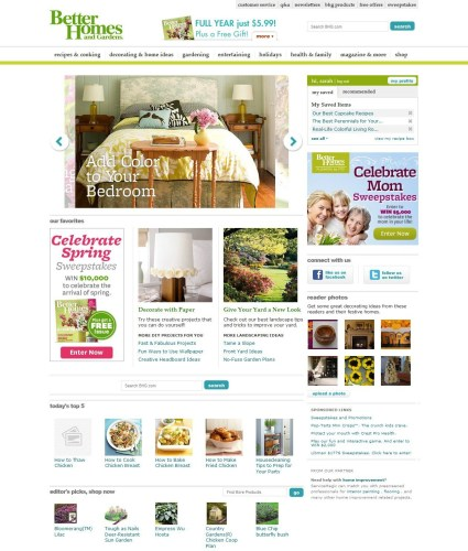 """Better Homes and Gardens Homepage"""