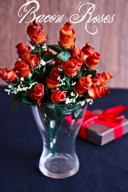 bacon roses valentines