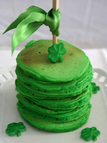 st. patrick's day pancakes