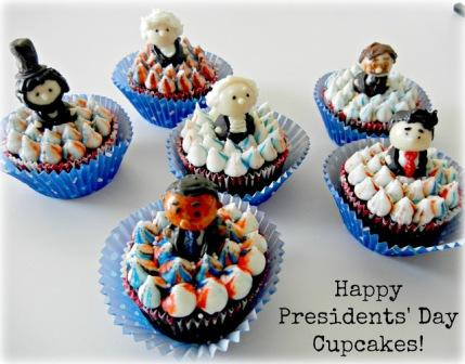 presidents day cupcakes