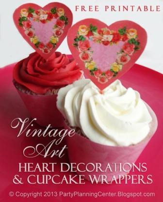 valentines cupcake printable