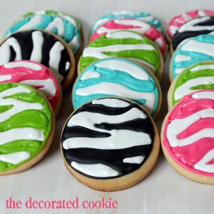 zebra print cookies