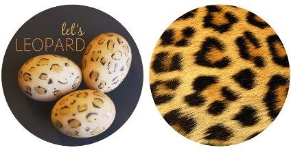leopard print easter egg