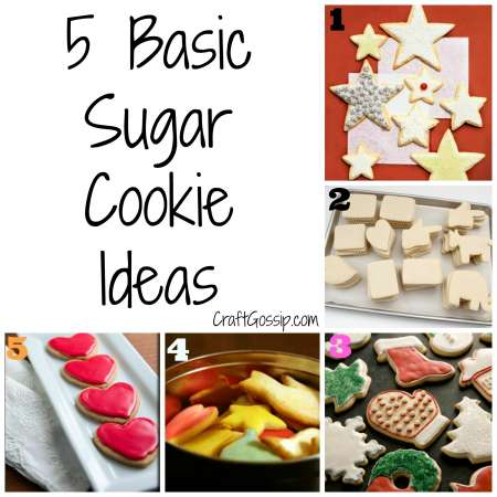 5 Basic Sugar Cookie Ideas