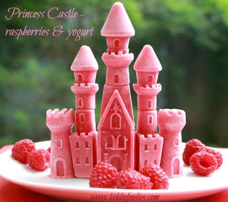 Princess-castle-frozen-raspberries-and-yogurt