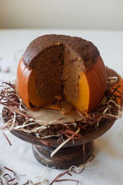 Bake A Cake in a Pumpkin