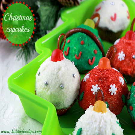 Christmas Balls mini cupcakes