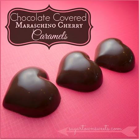 Chocolate Covered Maraschino Cherry Caramels Valentine Hearts