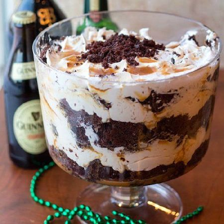 Boozy Irish Car Bomb Trifle