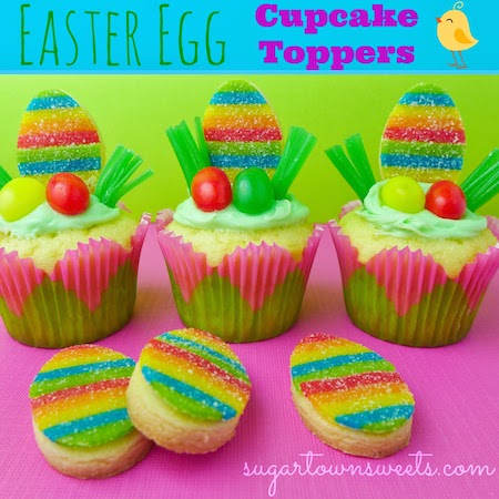 Easter Egg Cupcake Toppers~ Airhead Xtremes Created by Sugartown Sweets