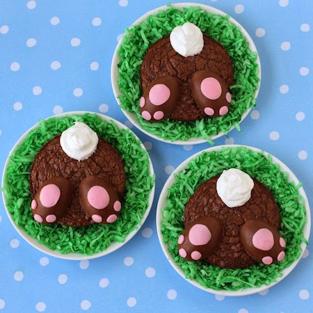 Brownie bunny butts with reese s peanut butter paws for Arts and crafts for brownies