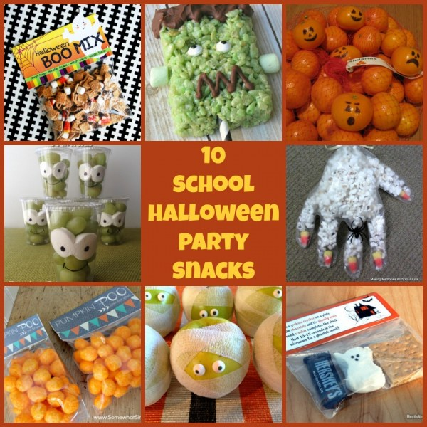 10 school halloween party snacks