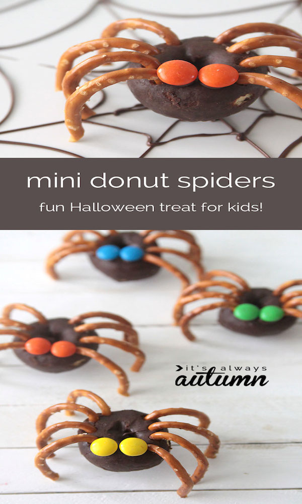 donut-pretzel-spiders-halloween-treat-kids-easy-fun