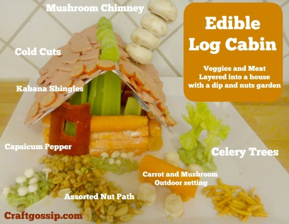 Make Your Own Edible Log Cabin Edible Crafts