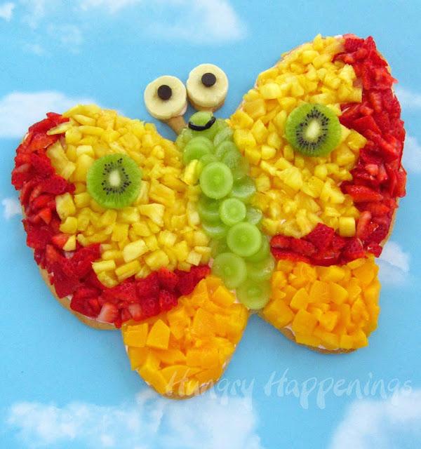 Butterfly fruit pizza recipe