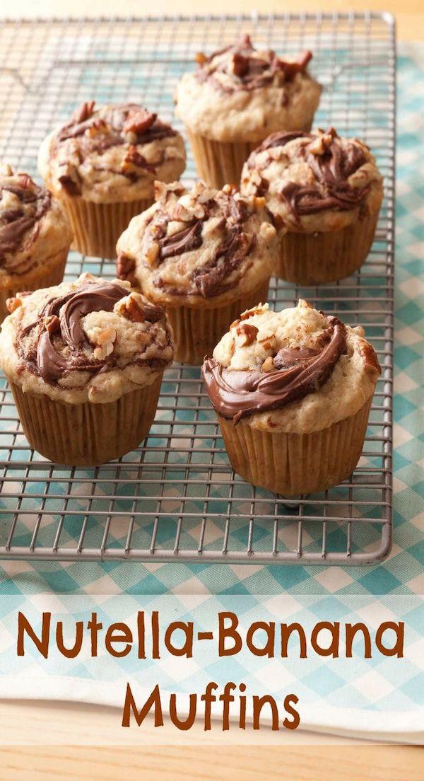 Nutella-Banana Muffins