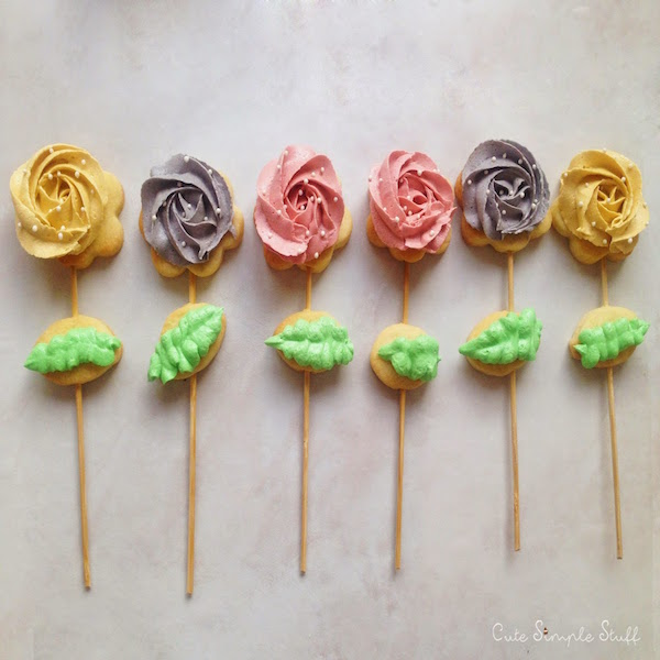rose cookie pops