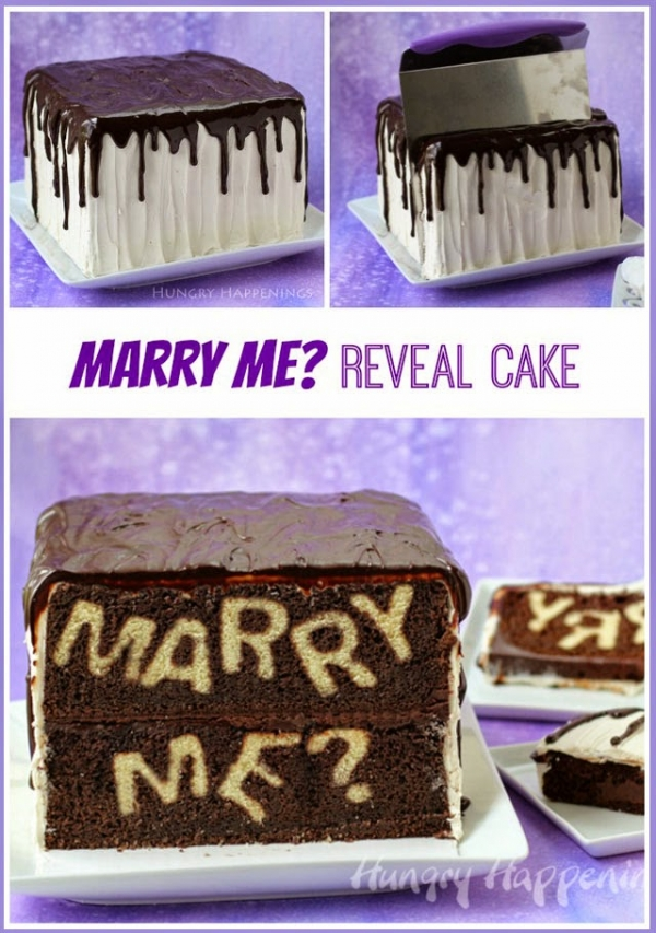 Marry Me Reveal Cake