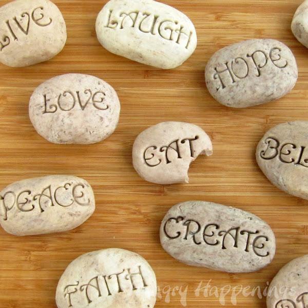 Cookies 'n Cream Fudge Serenity Stones, edible craft ideas, edible craft recipes, Mother's Day