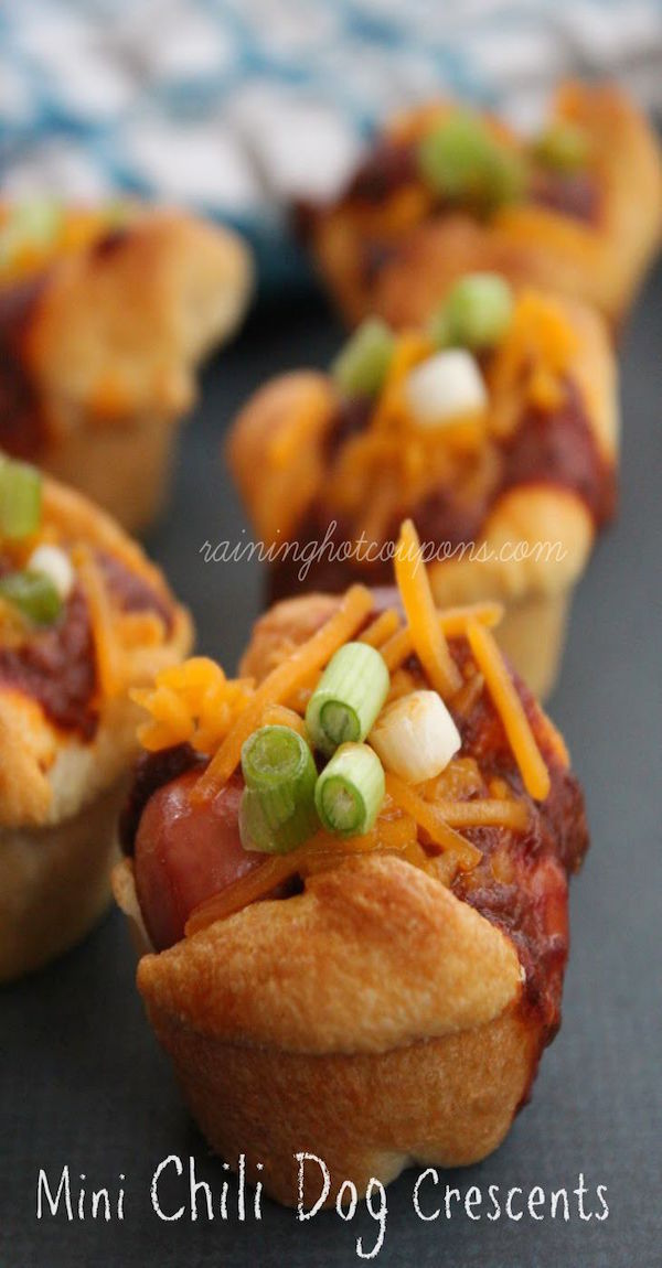 mini chili dog crescents