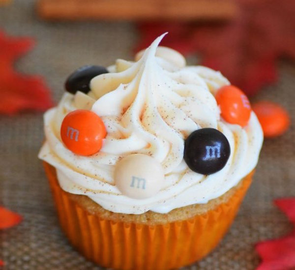 harvest surprise cupcake