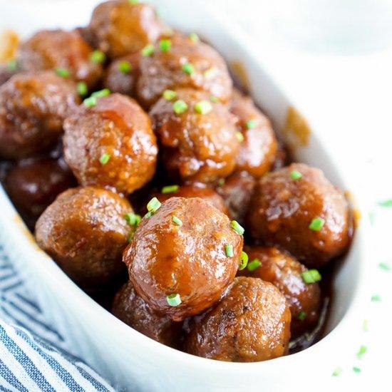 maple chili meatballs