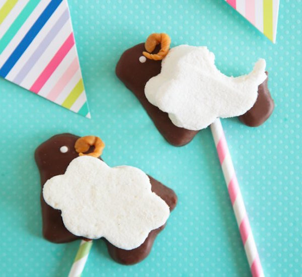 puffy sheep s'mores pop