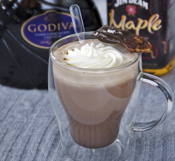 double chocolate maple hot cocoa