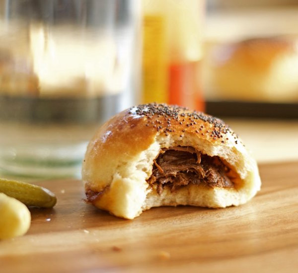beef, beer, and bacon buns
