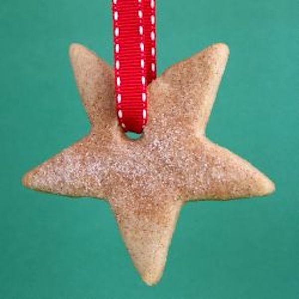 cinnamon sugar star cookie ornament