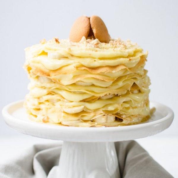12 layer banana pudding crepe cake