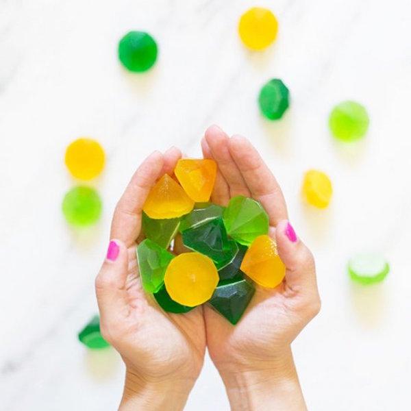 DIY gemstone gummies