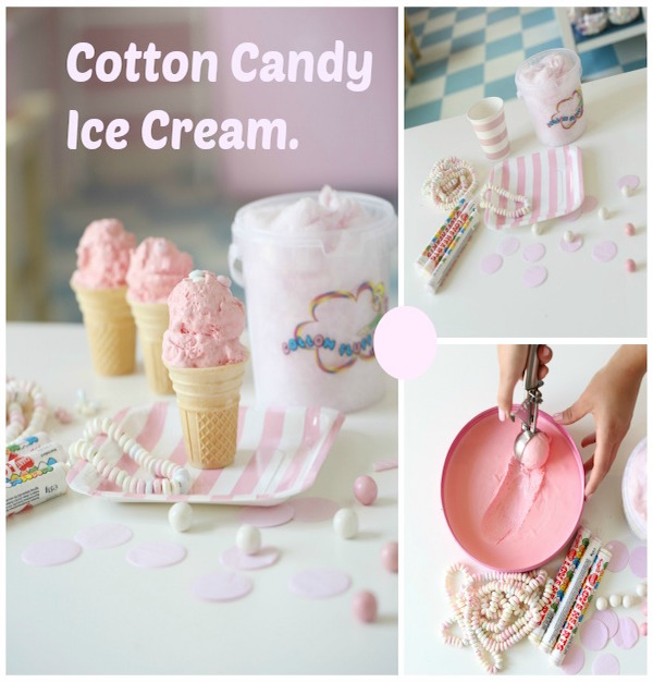 cotton candy ice cream