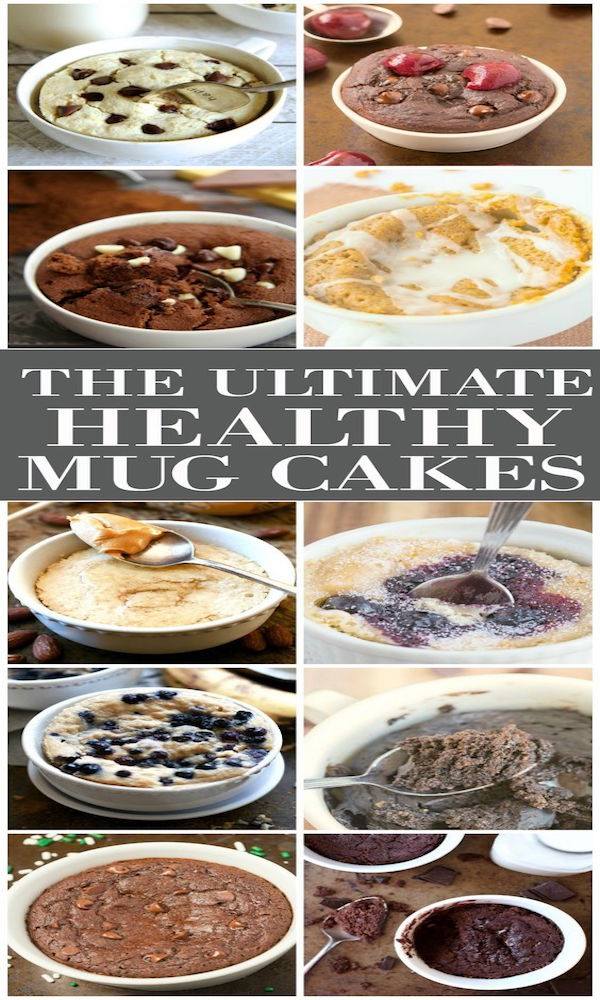 healthy and delicious mug cakes