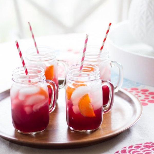 pomegranate orange spritzers