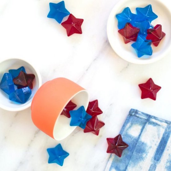 4th of  July spiked jello stars
