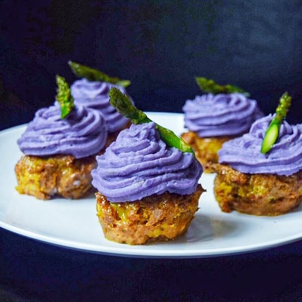 curried turkey & bacon cupcakes