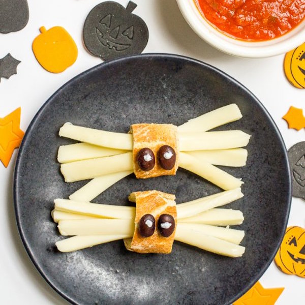 Healthy Halloween Spider Snacks Edible Crafts