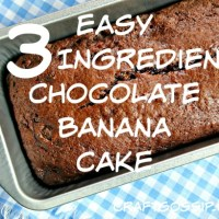 3 Ingredient Chocolate Banana Bread Recipe