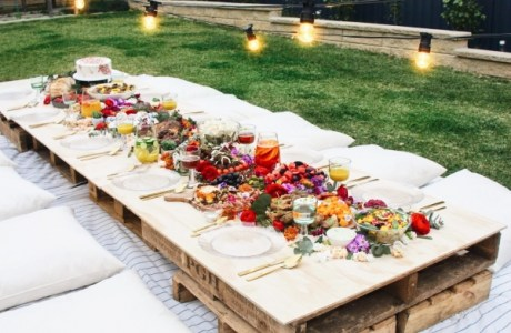 Rustic Grazing Picnic Table